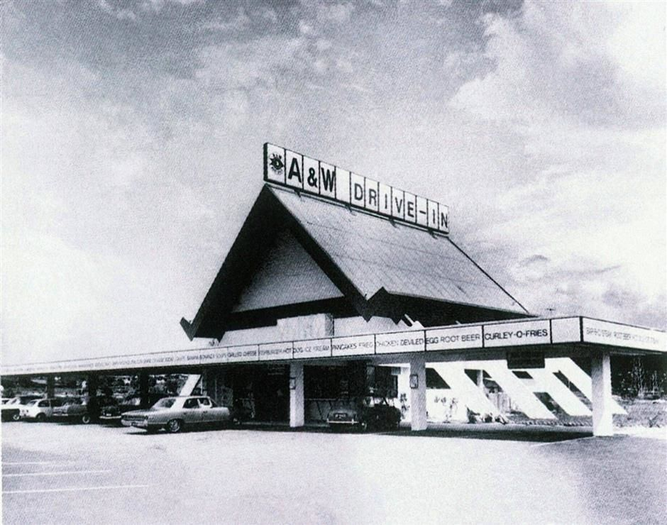 The A&W restaurant in Section 52, Petaling Jaya, built in the 1960s