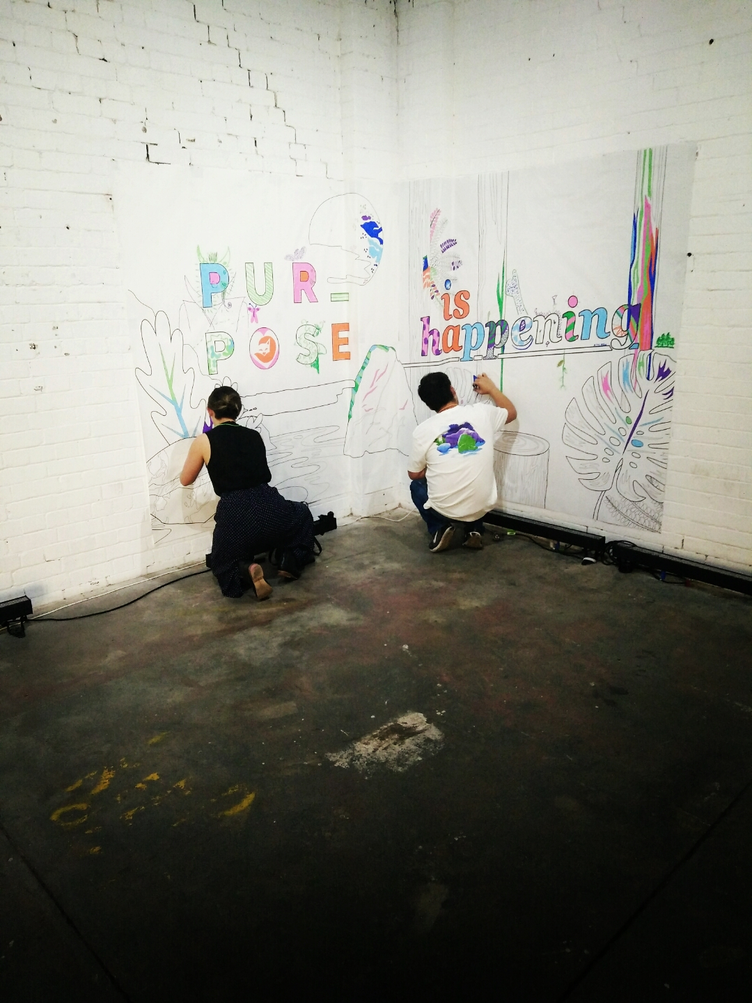 Colouring-in wall