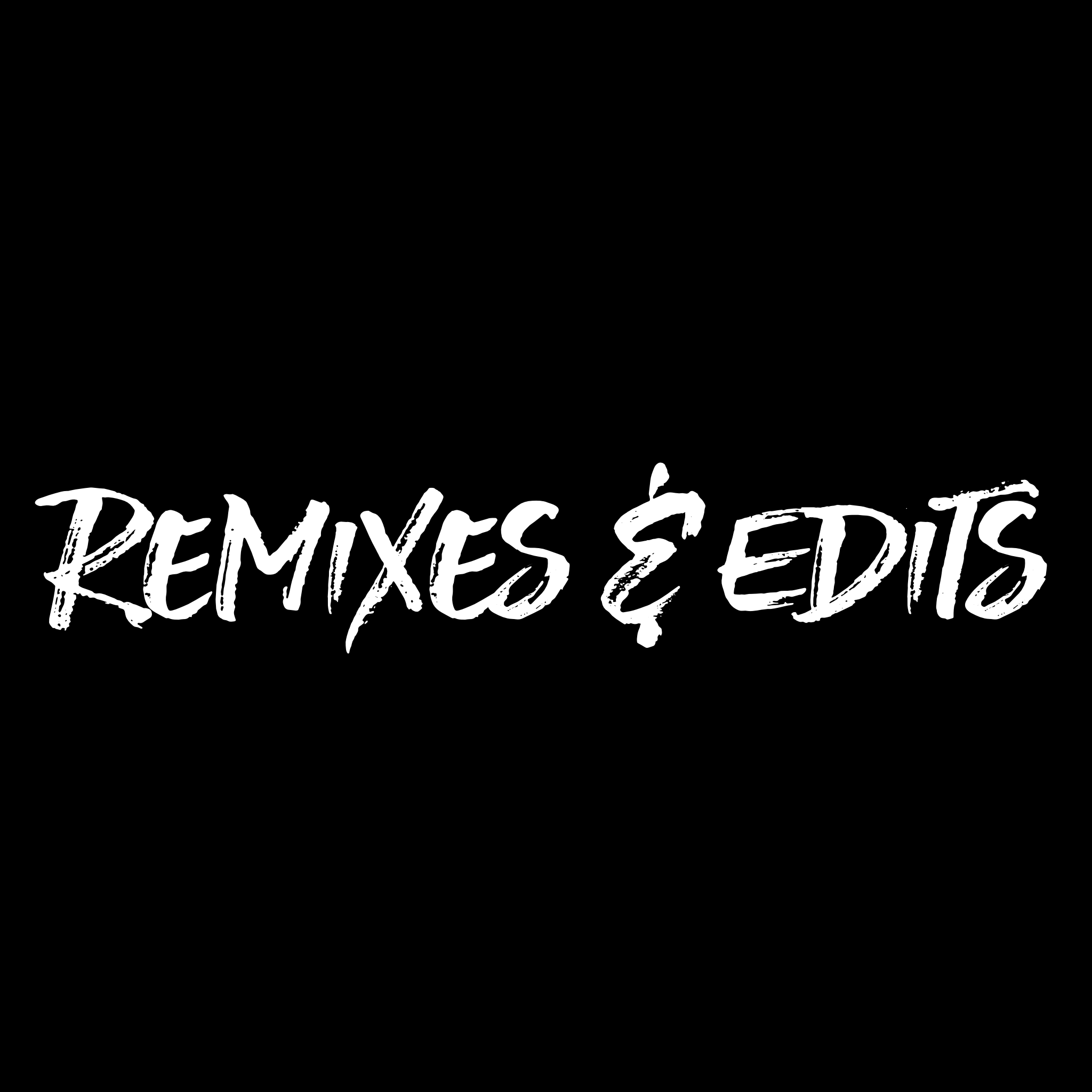 Remixes & Edits Wht on Blk square.png