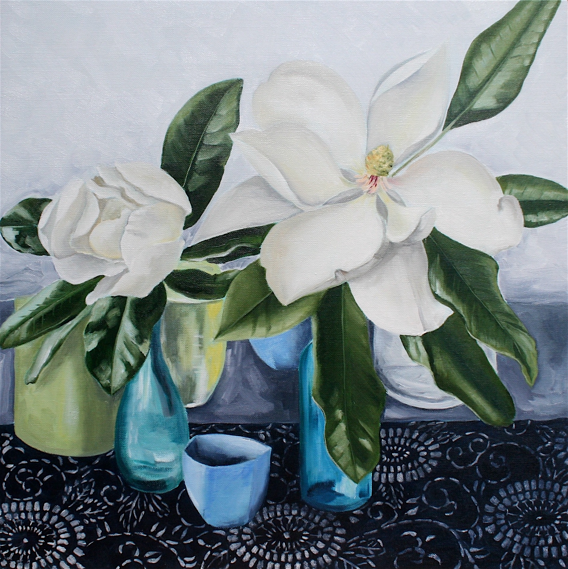 Magnolia with Vases