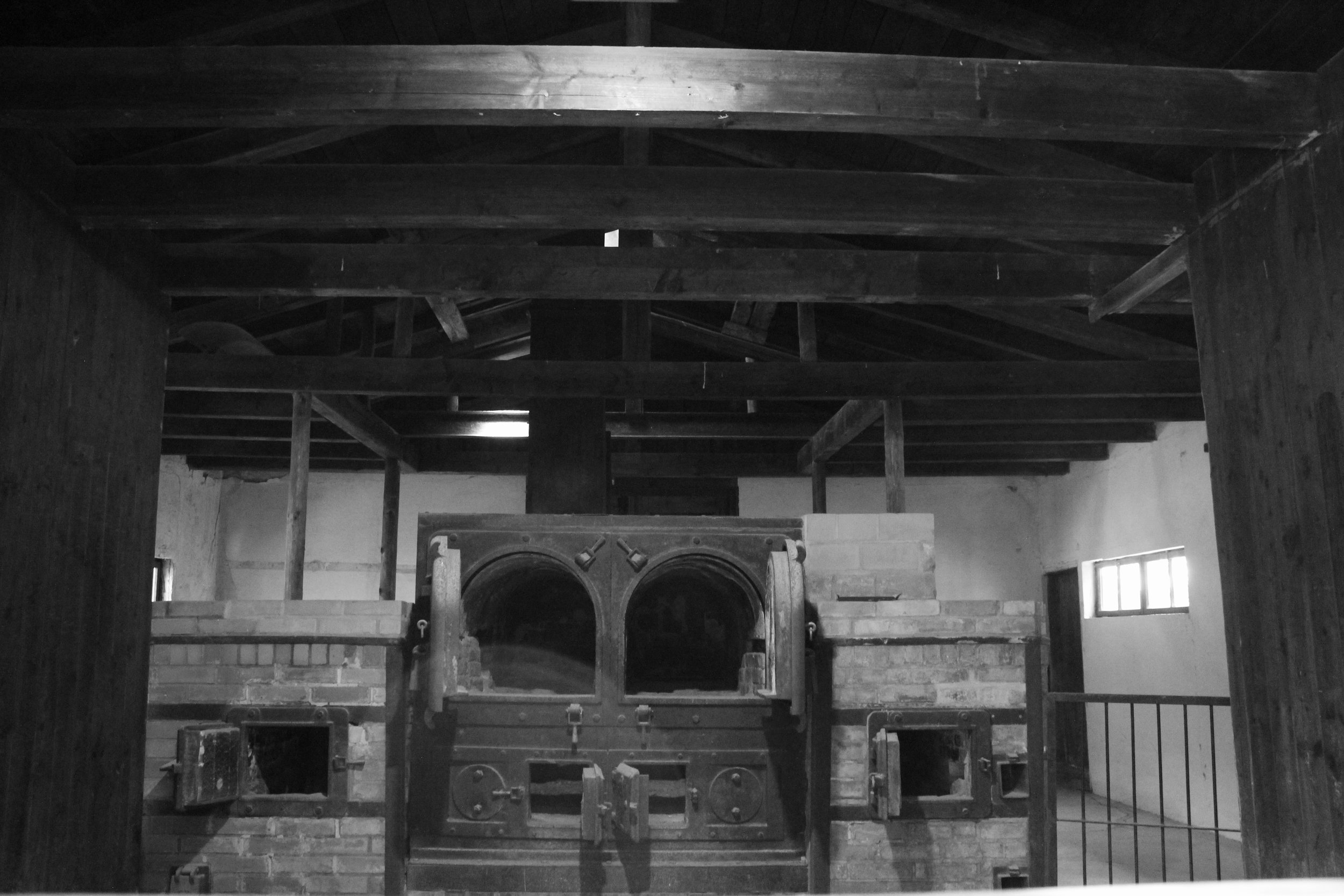 The original crematorium. Prisoners would have job assignments here to burn the other prisoners. When they couldn't do it anymore, they were burned and a new prisoner was assigned the job.