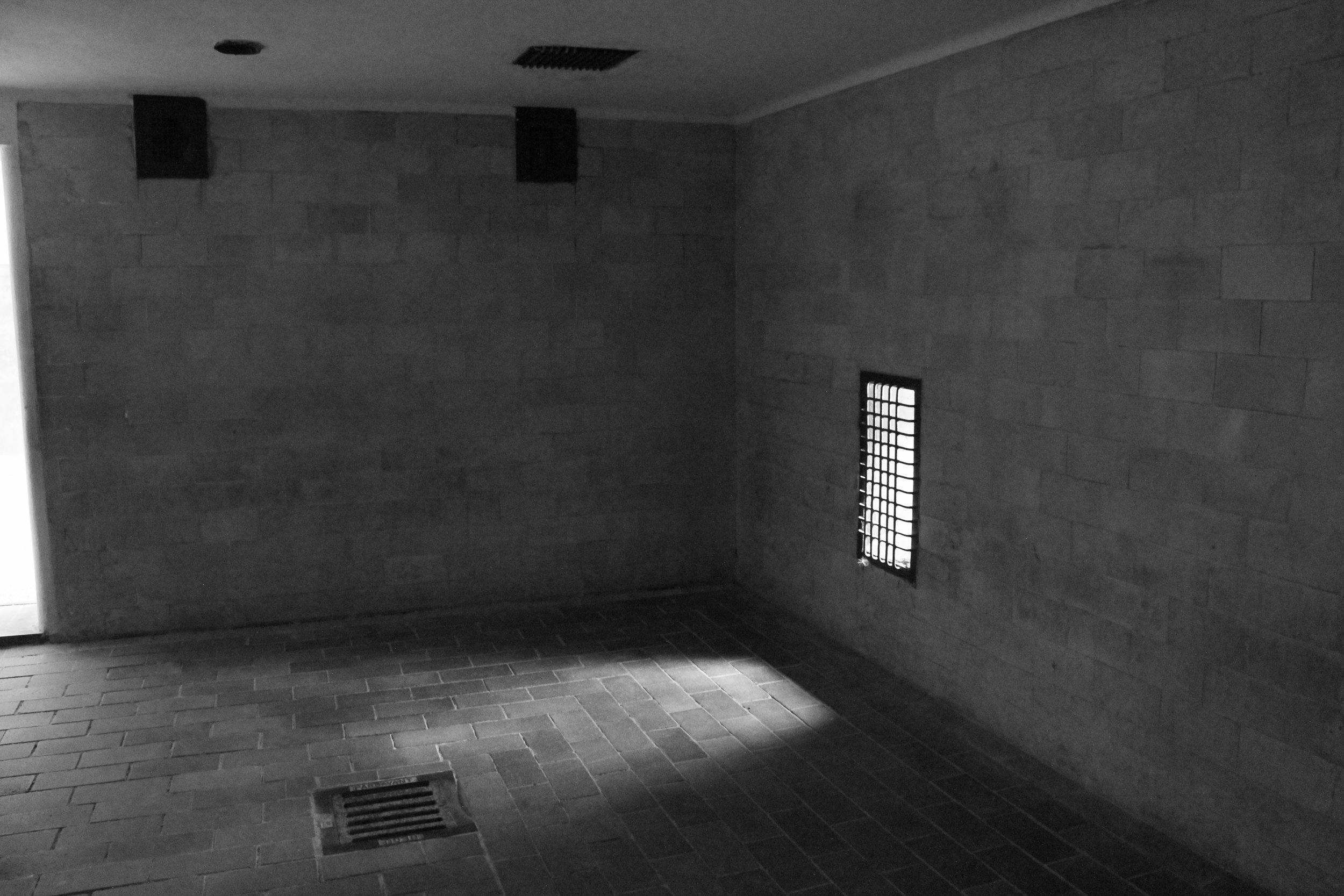 Inside a renovated gas chamber.