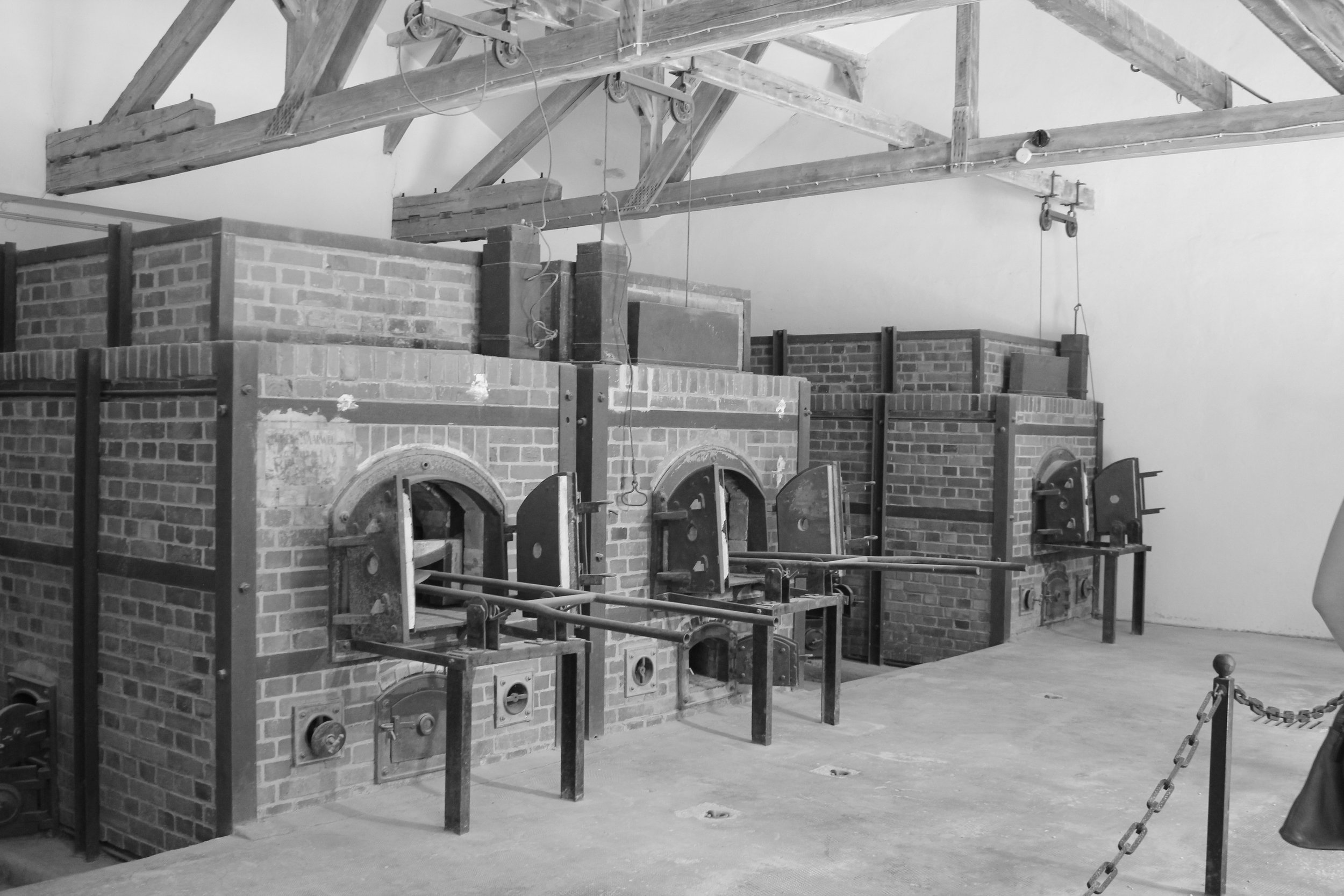 Crematoriums for the gas chambers.