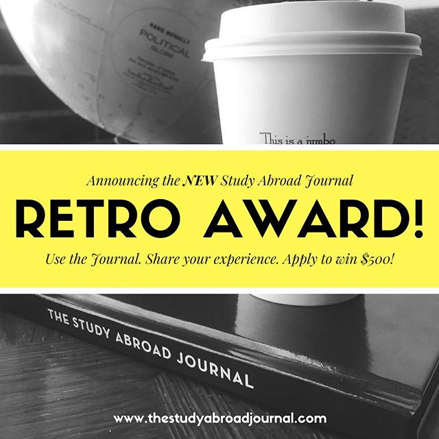 Hey #studyabroad world! We're giving away a $500 cash award! Click the link in our bio to learn more and get on or early-bird list. Here's how to qualify: study abroad ✔️, use @theabroadjournal during your experience ✔️, submit application✔️, potential win!✨ #studyabroad #intled #seetheworld #internabroad #meaningfultravel #theabroadjournal