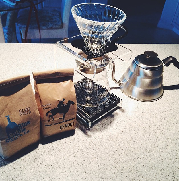 My very first pour over set-up!