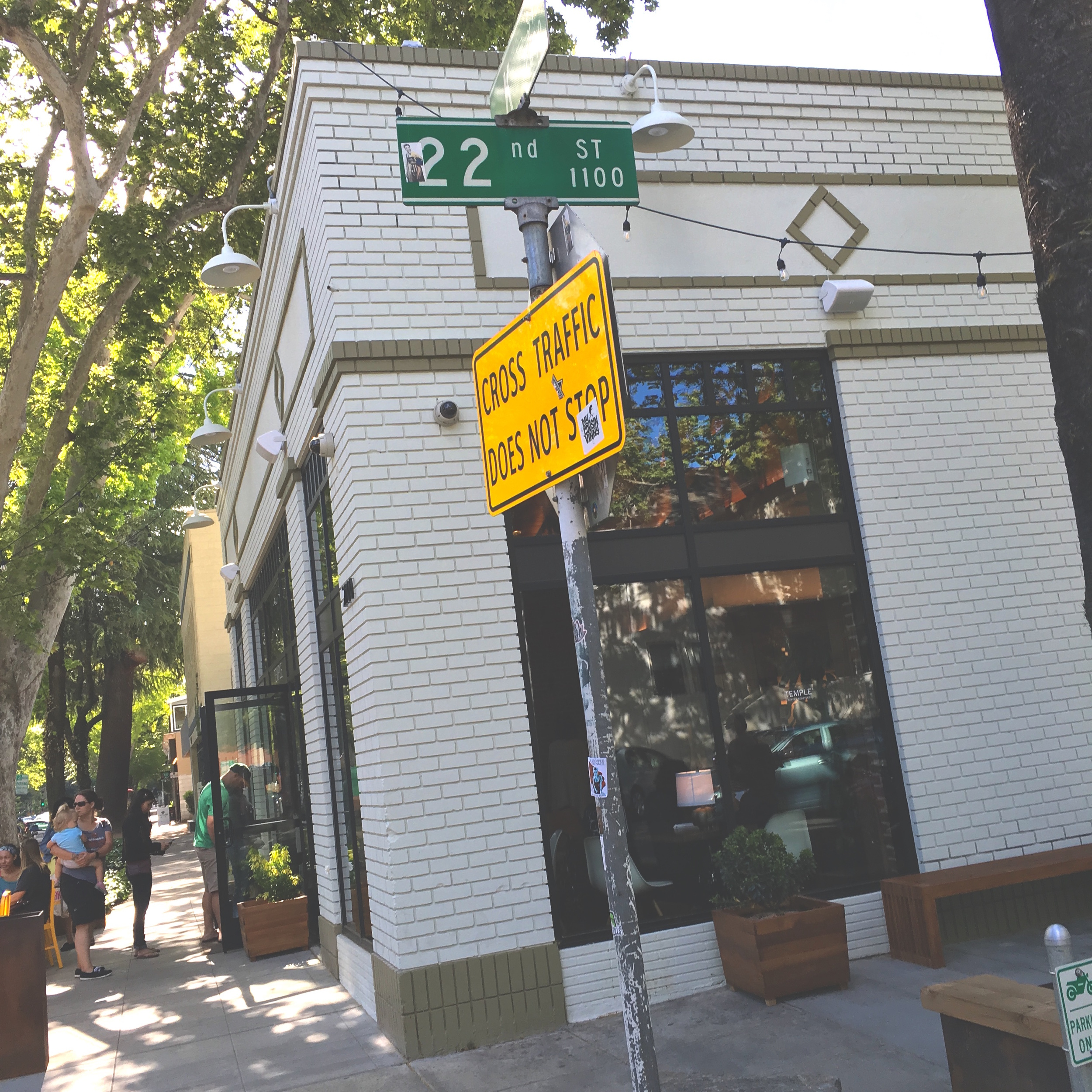 Temple Coffee on K Street & 22nd.