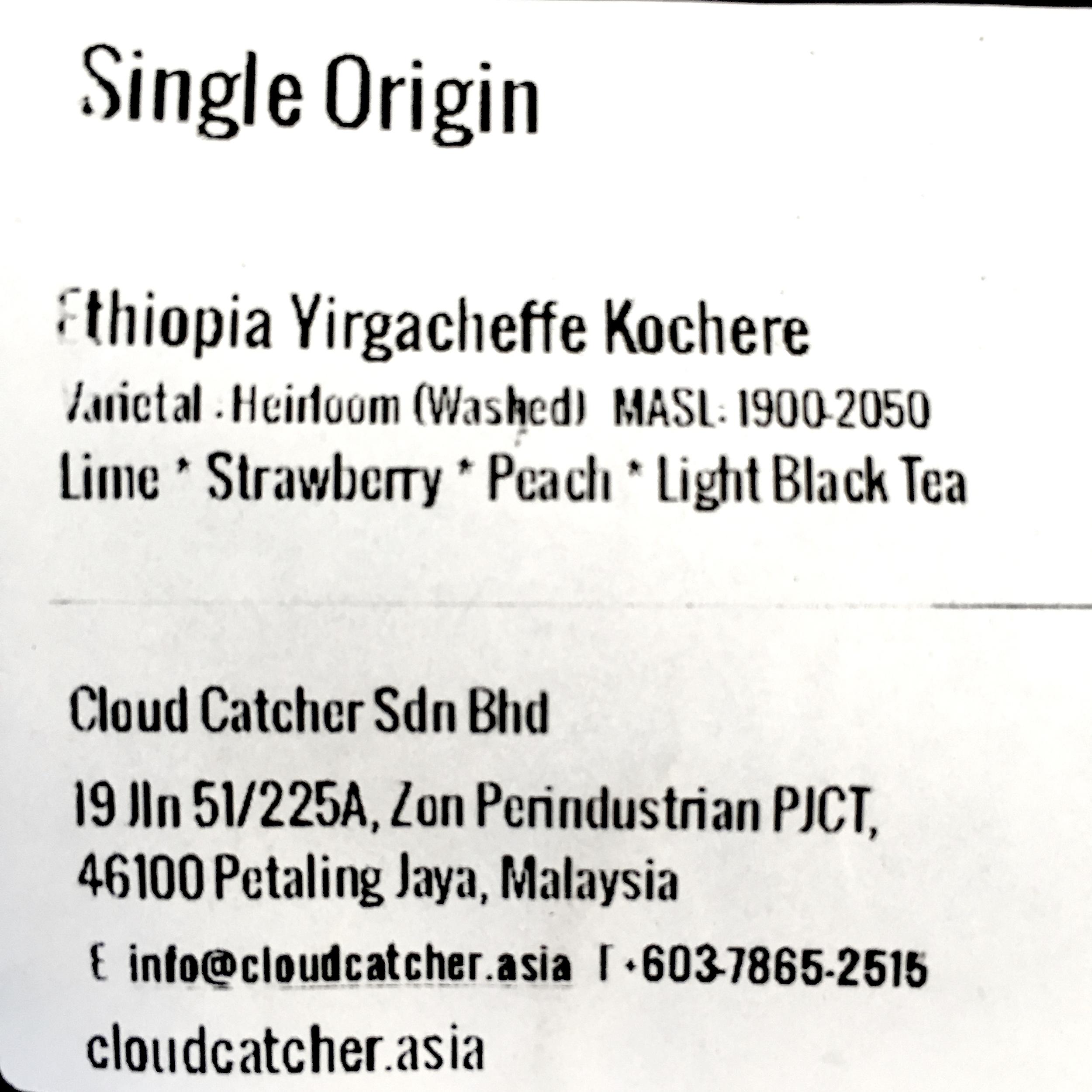 Cloudcatcher Coffee Information and Coffee Origin Details