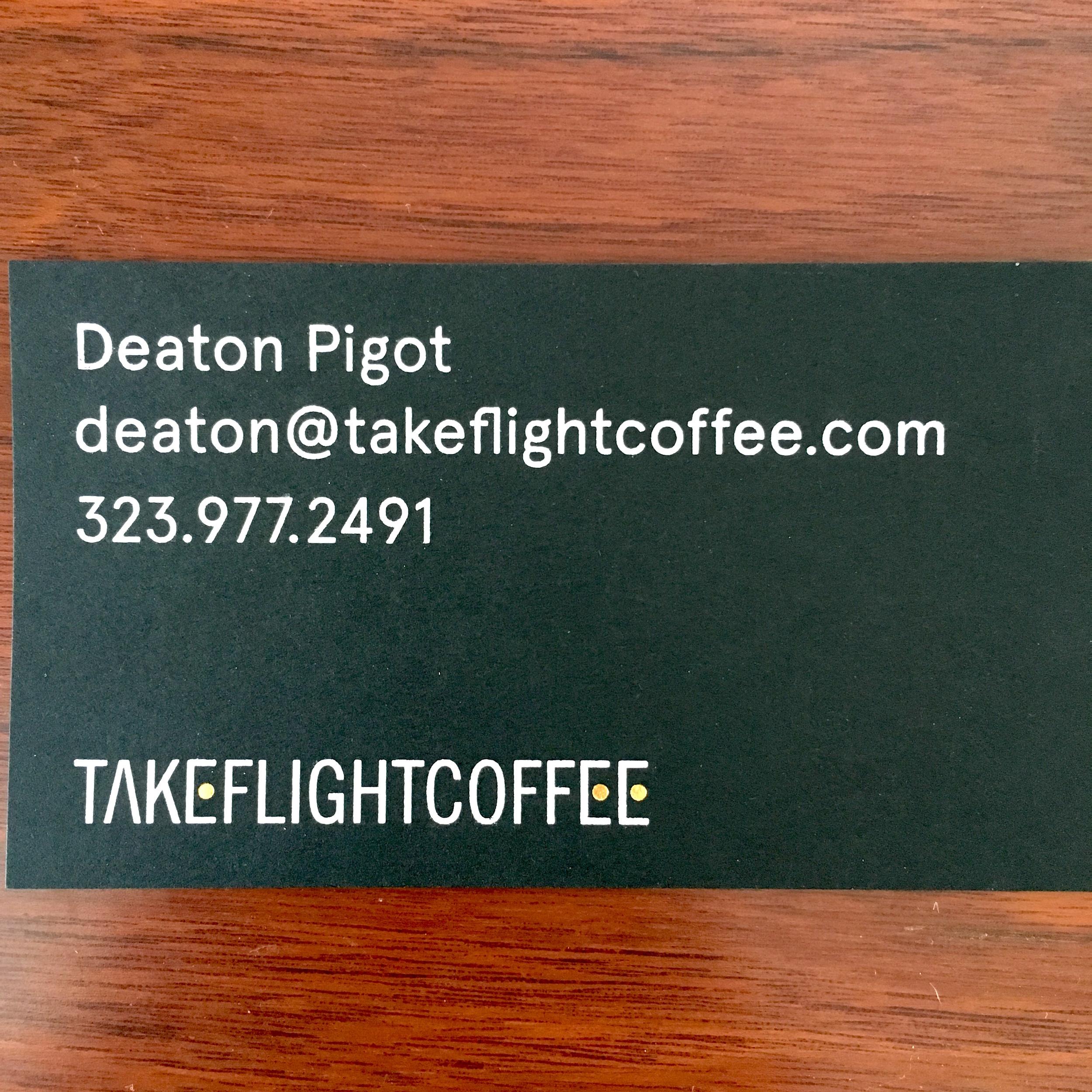 Takeflight Coffee Information
