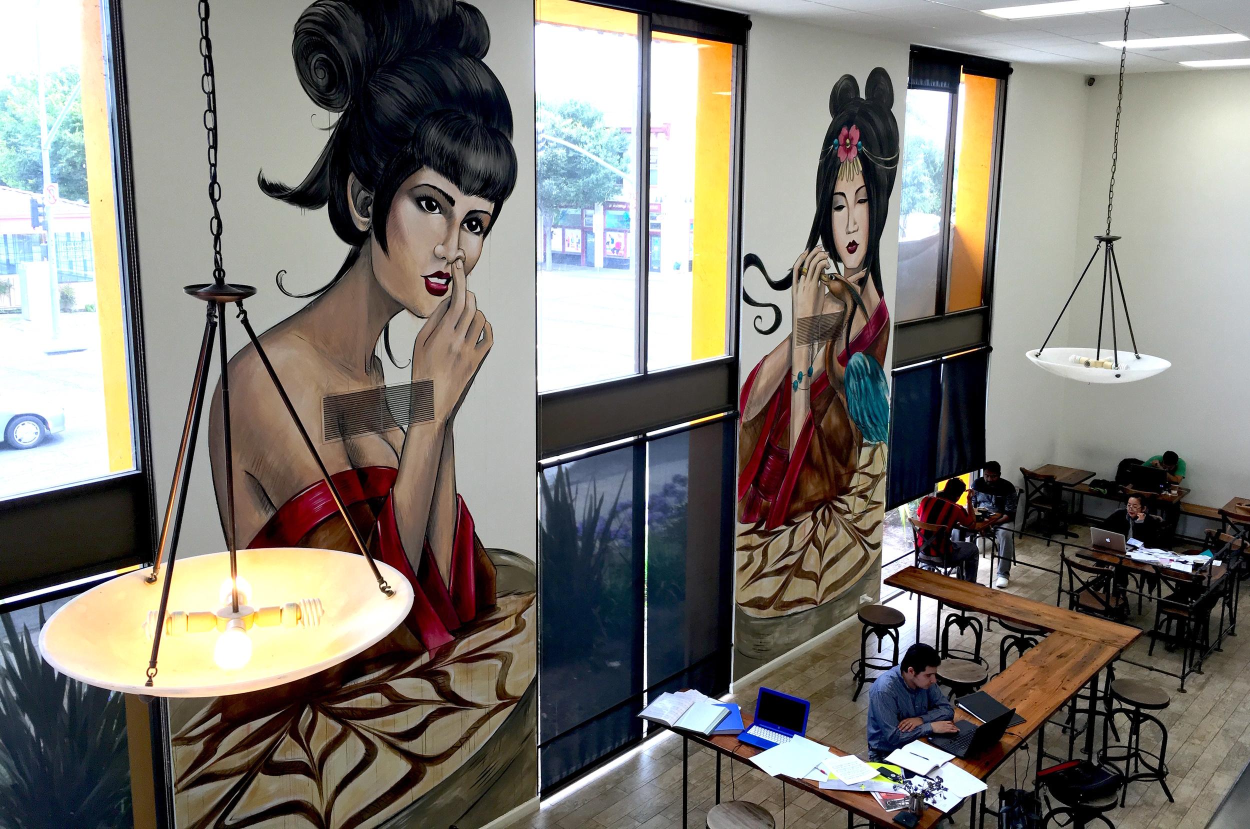 Slapface Coffee Murals
