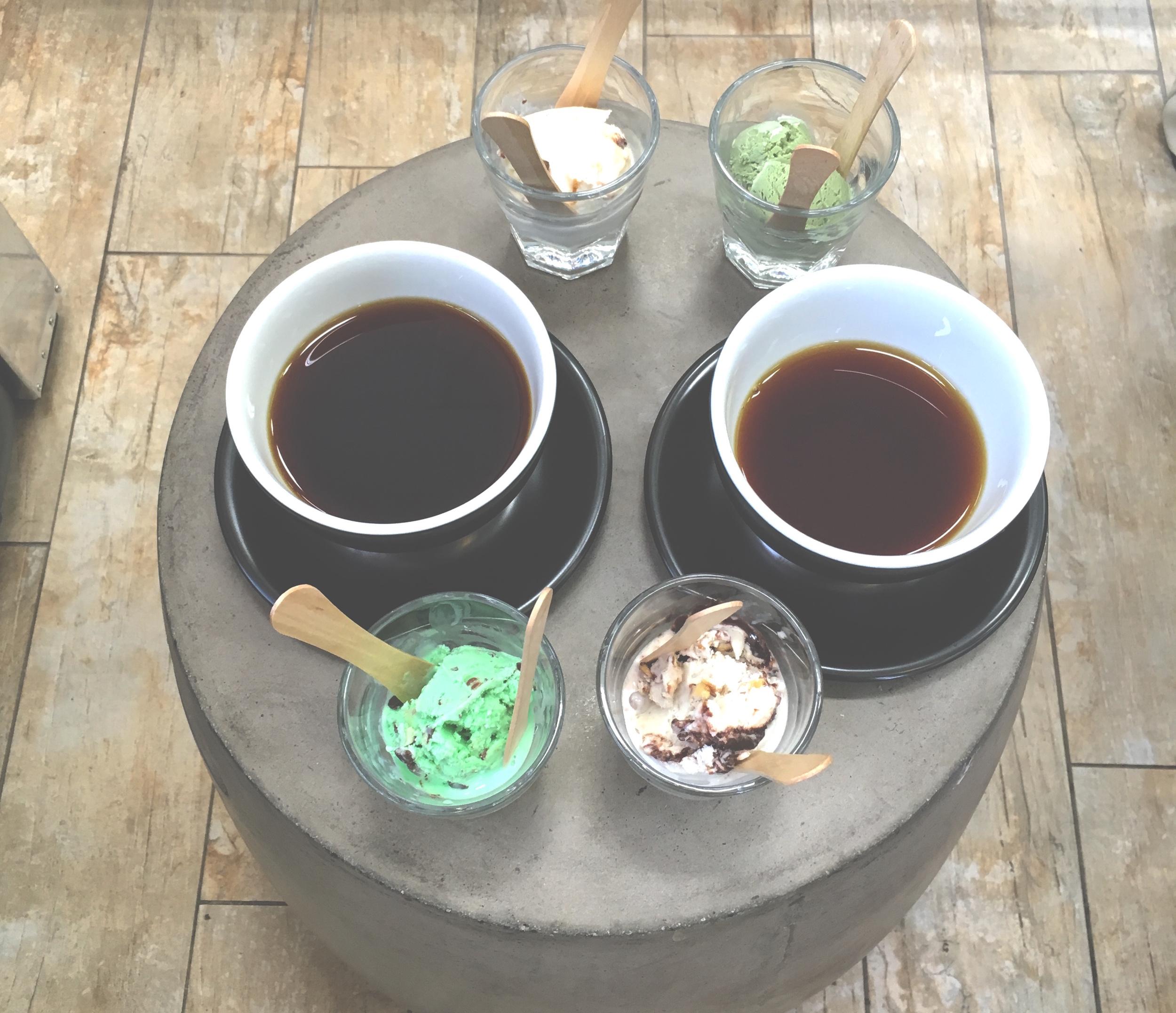 Chromatic Coffee and Mitchell's Ice Cream Tasting Flight