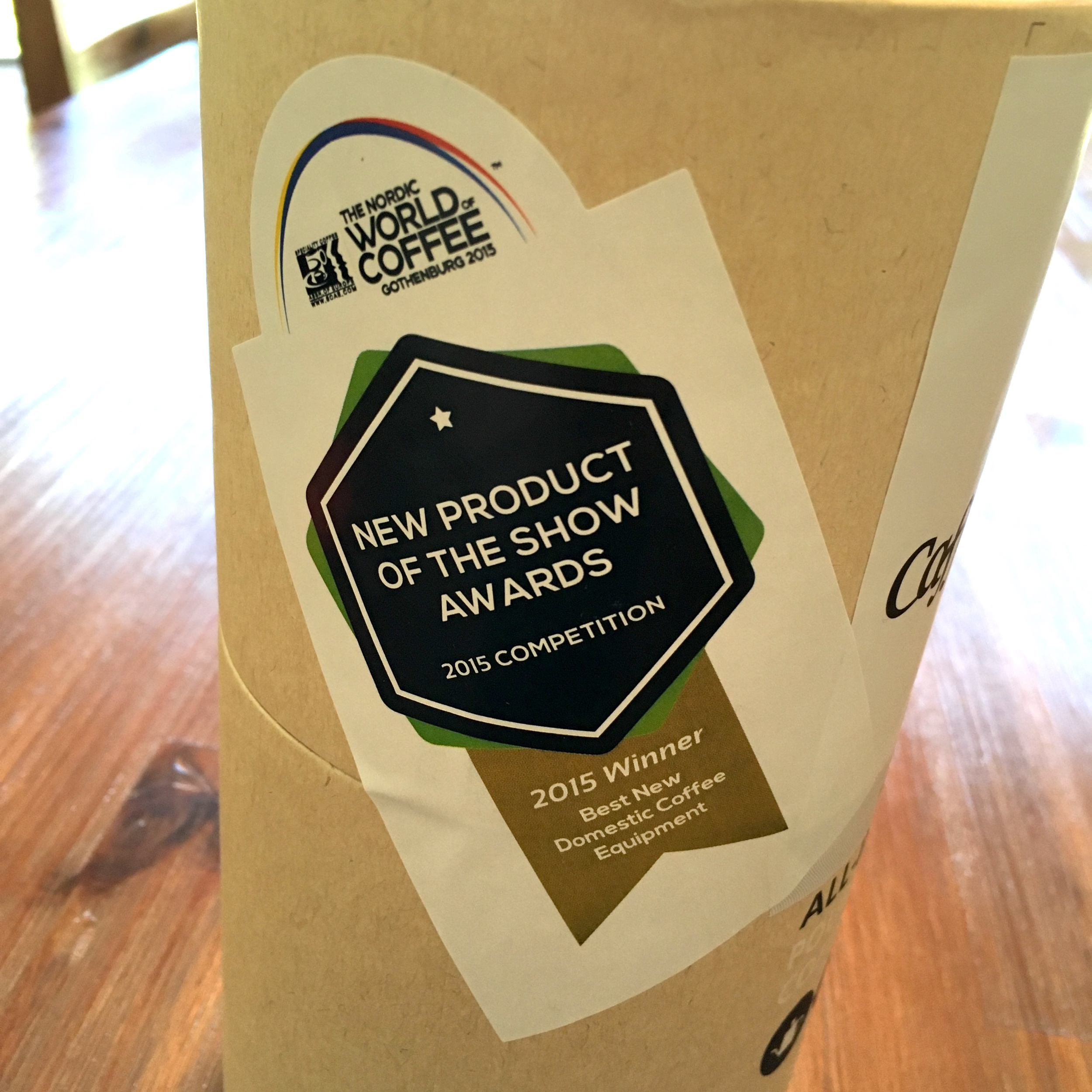 Best New Domestic Coffee Equipment Winner of the 2015 Nordic World of Coffee
