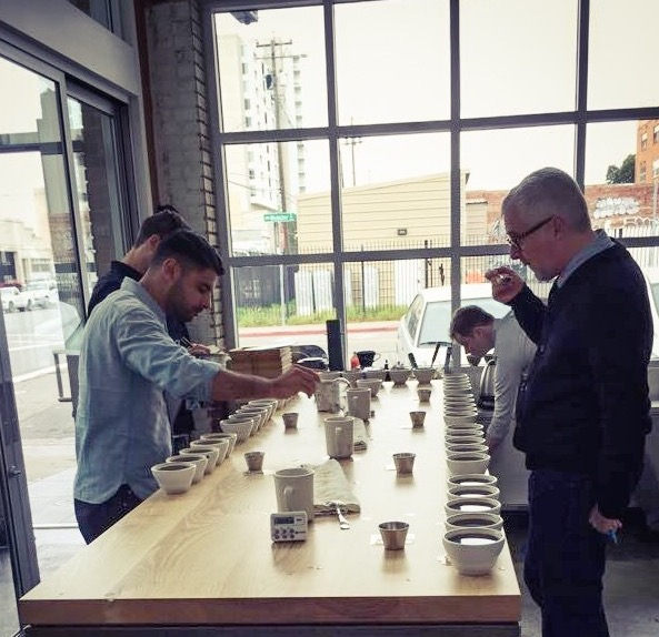 Blue Bottle Blind Cupping Session