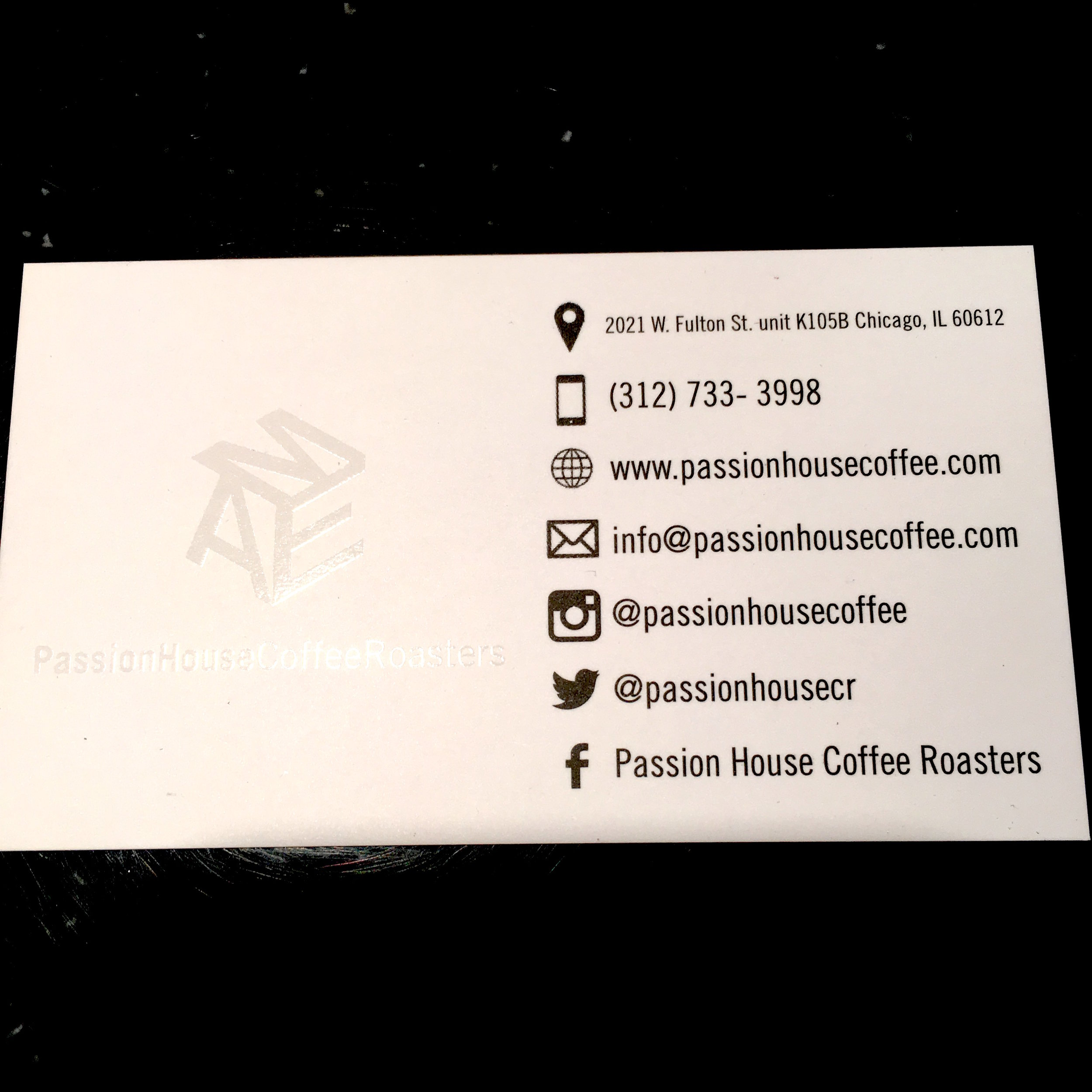 Passion House Coffee Roasters Info