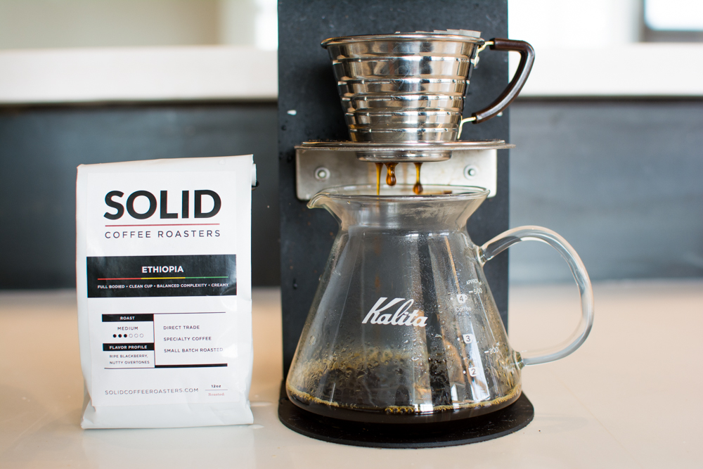 Brewed by the Marco SP9, Kalita 155 Dripper