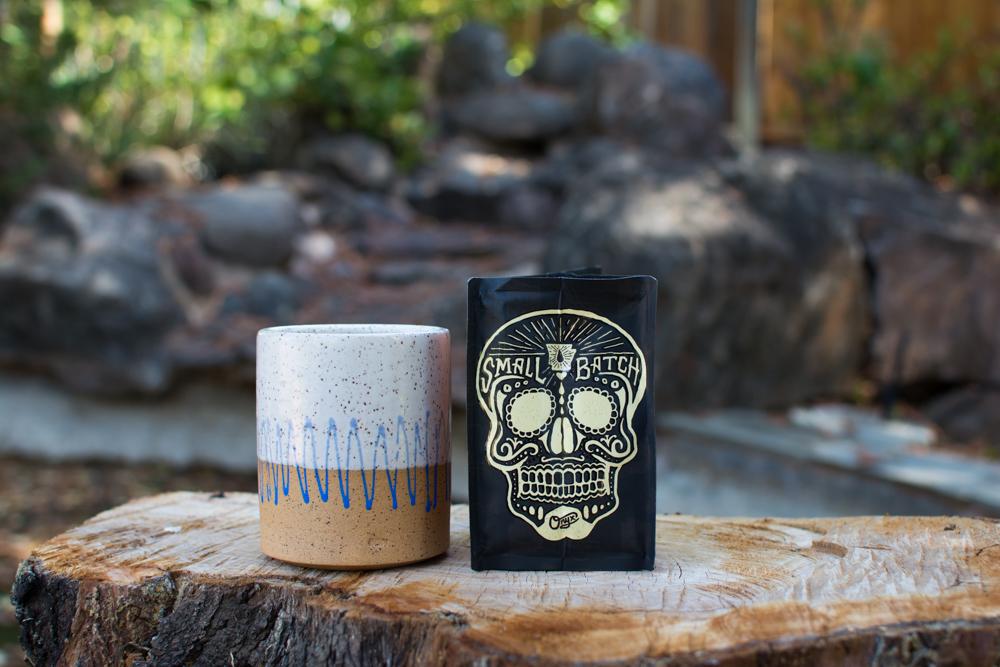 "Onyx Coffee Lab ""Small Batch Skull"" Imprint on Packaging"