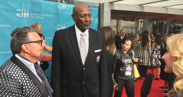 Dwyane Clark and his wife with Spencer Haywood at the Seattle International Film Festival