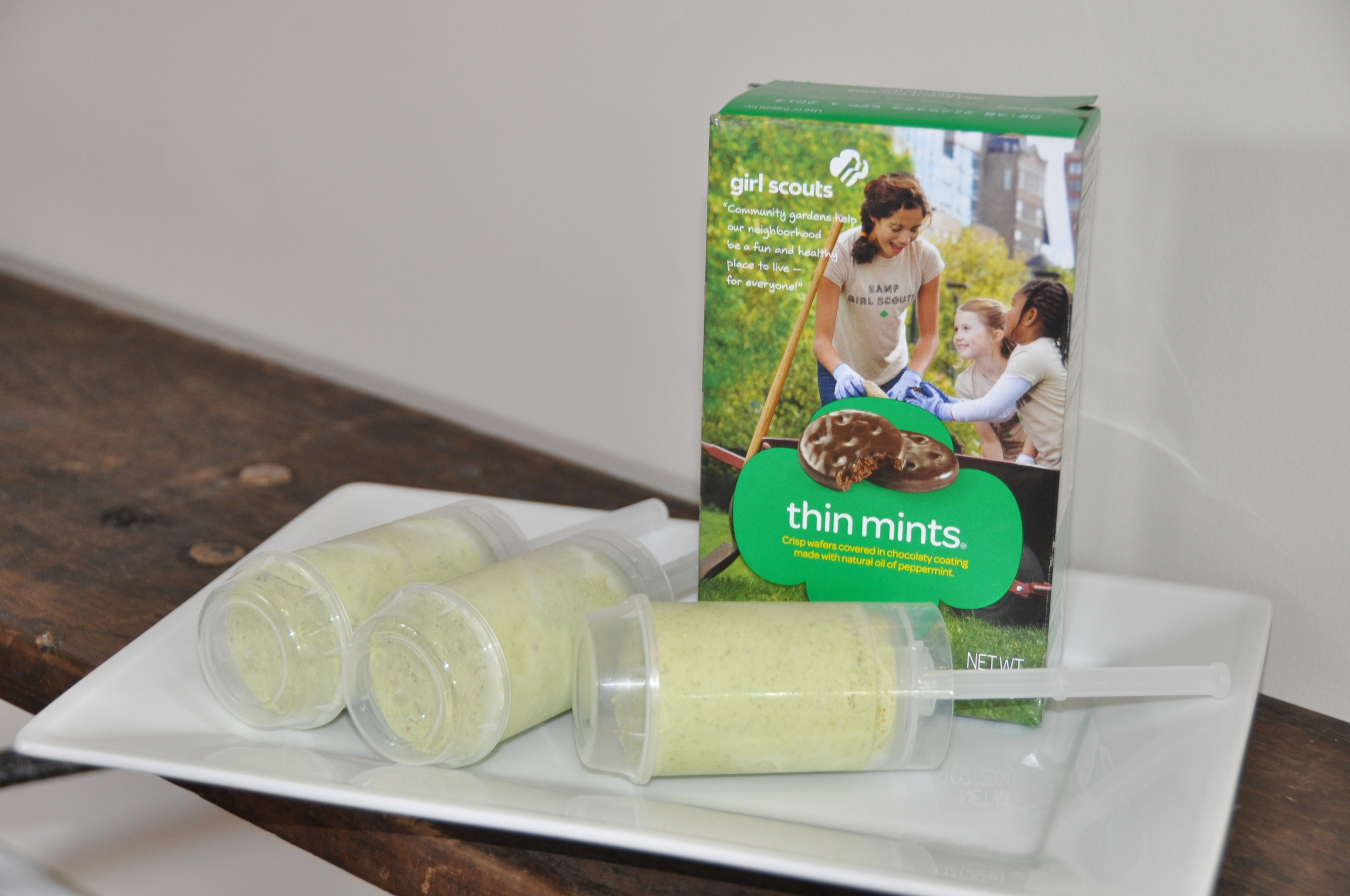 ice cream pops & girl scout cookies