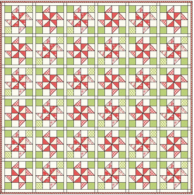 Try making a total of 36 Soar blocks to create a beautiful and striking quilt.