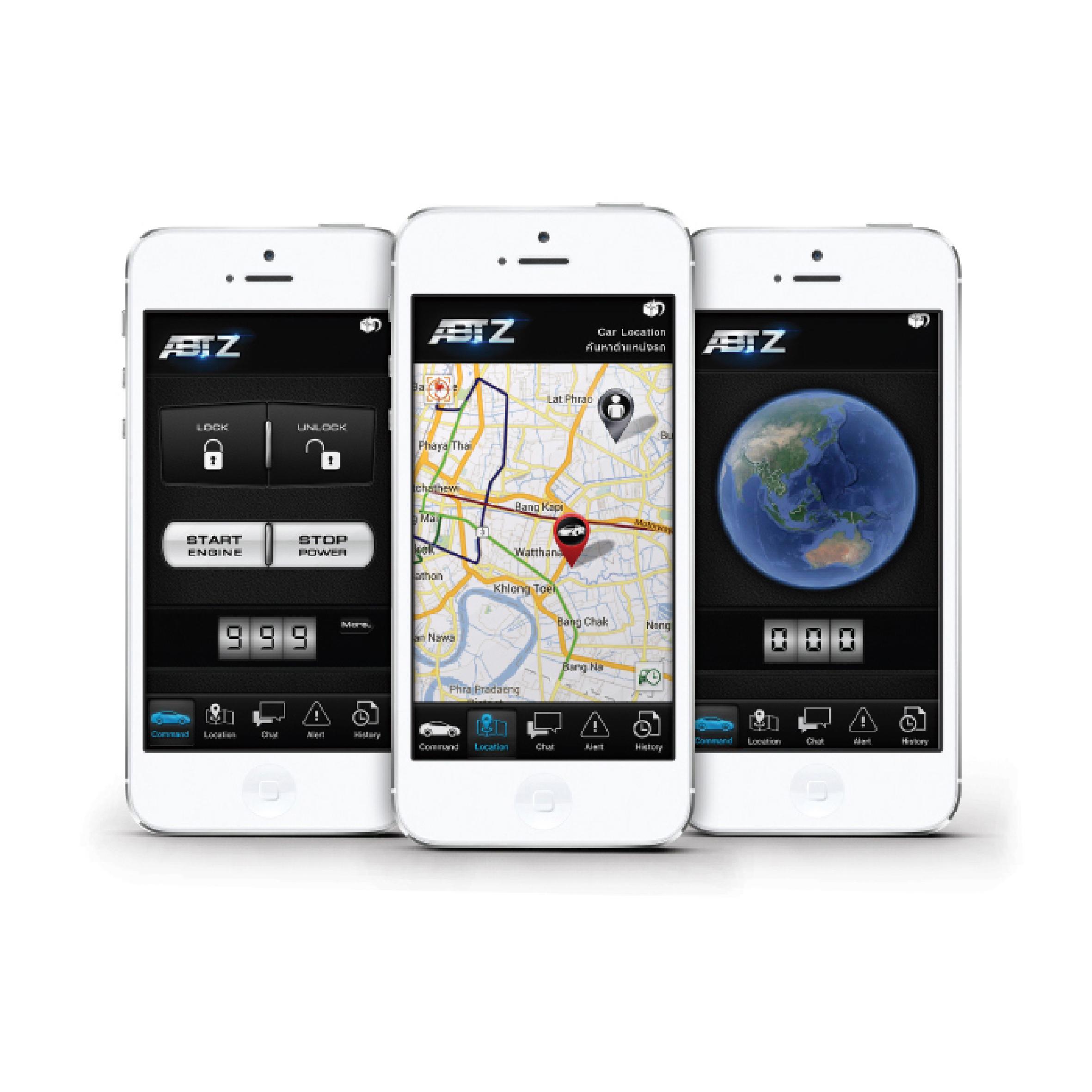 ABTZ GPS, จีพีเอสติดตามรถยนต์, สัญญาณกันขโมยรถยนต์, ตัดสตาร์ท