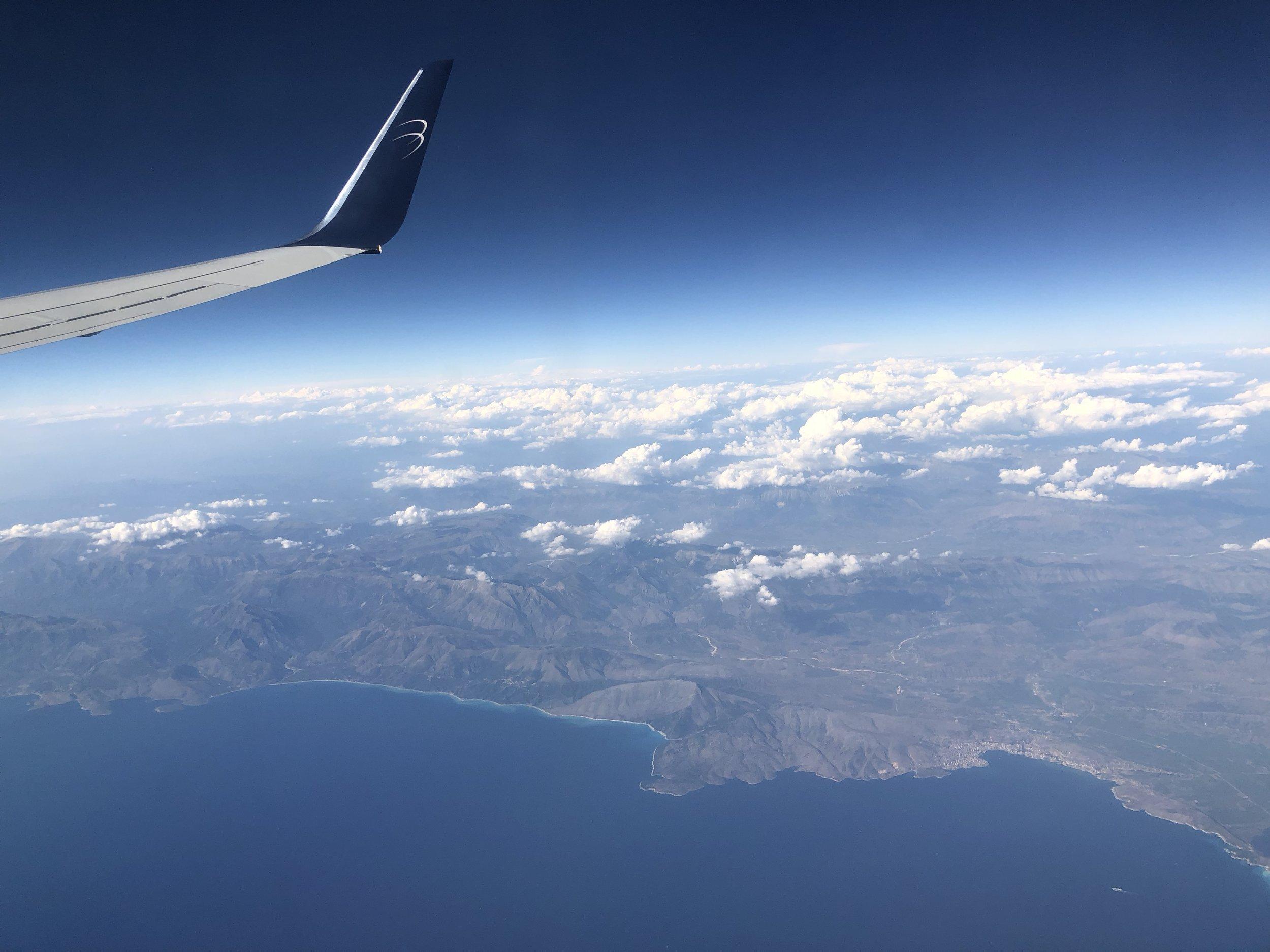 Flying over the Greek Islands
