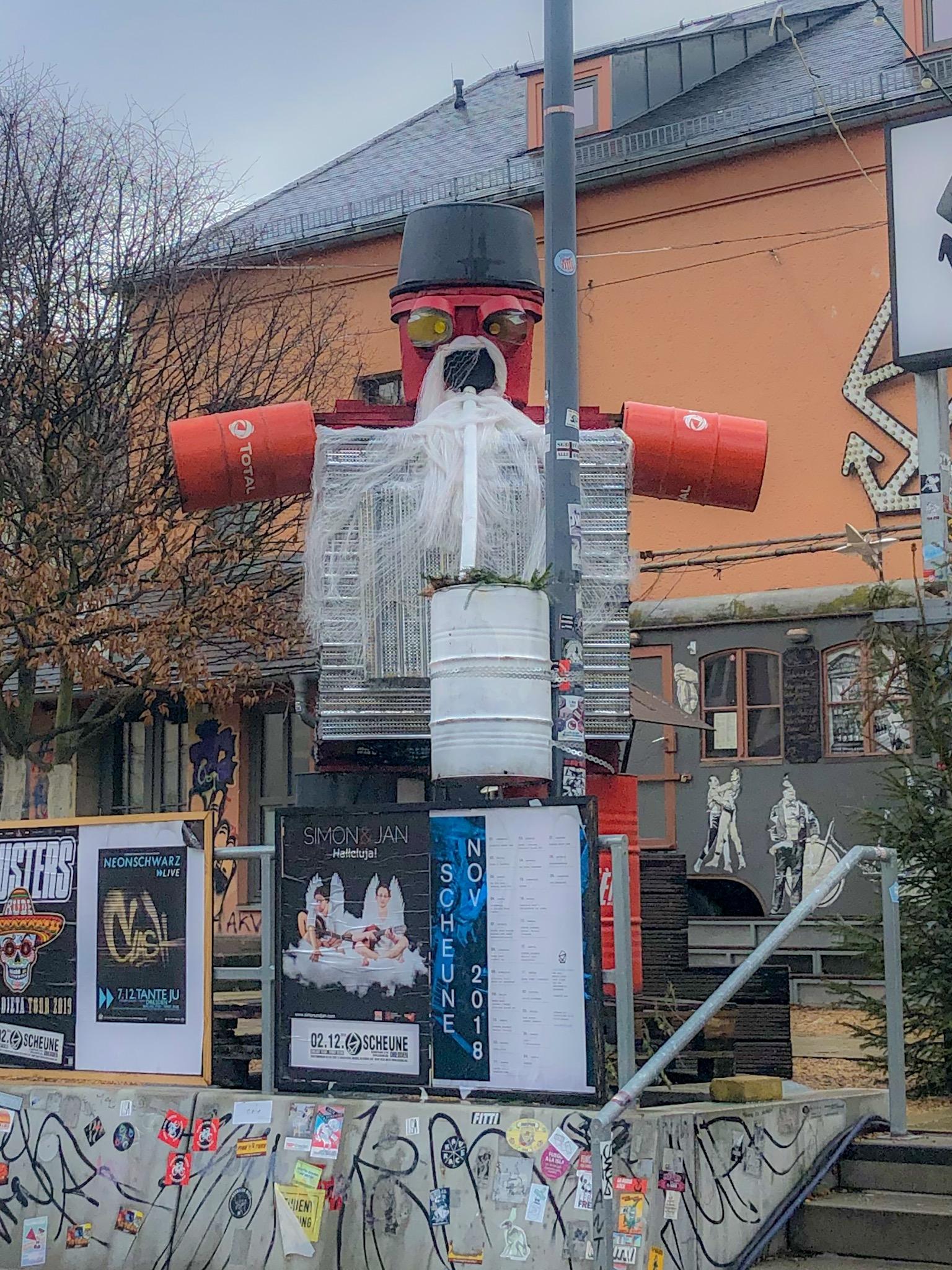 Robot Santa, Dresden
