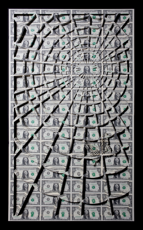 Cut and uncut US Currency