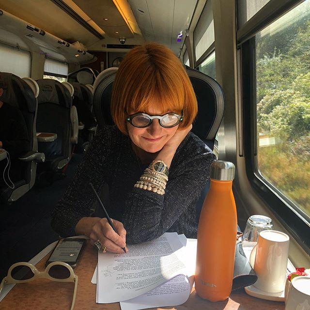 September 2nd and I'm officially back to work. Sitting opposite @miss_ebp who's throwing tasks across the table. The list is endless. First time in 3 months I've swapped my country Birkenstock's for a pair of Marni heels. Full make-up on. No more walking the hills with Walter the dog. No more blackberry picking and jam making! (Yes reader I did) Off to Birmingham to talk at @springautumnfair. Kicking off recording series 2 of our #WorkLikeaWoman podcast this week. Dinner with the fab and feisty CEO #ChristineHolgate tonight. All is go xm