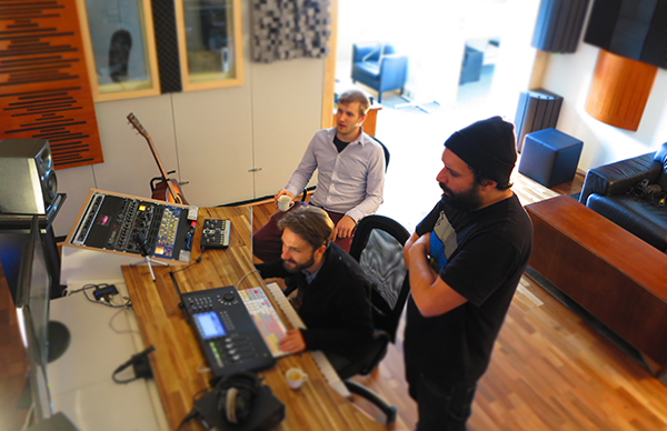 Studio at work