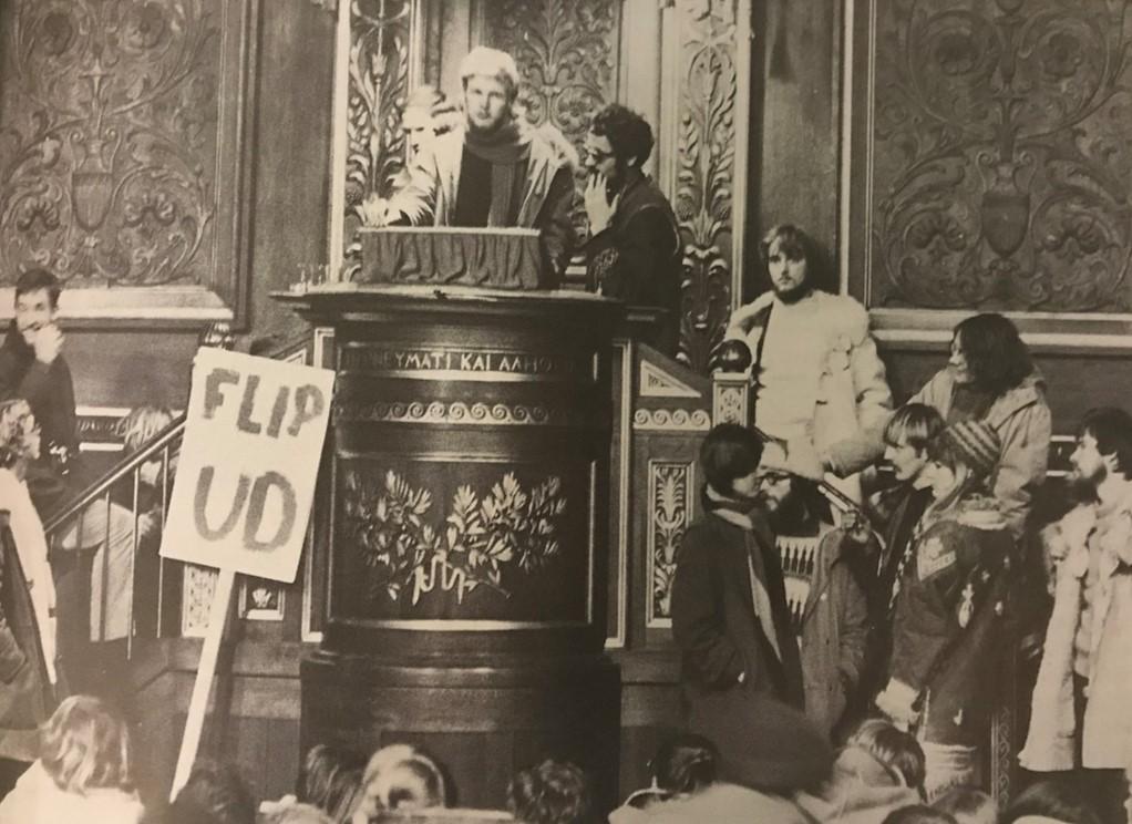 1968: Besættelse af Københavns Universitet. Foto: Lars Hansen