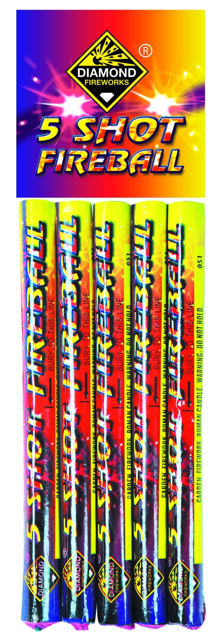 5 Shot Fireball 5pk - RRP £3.50