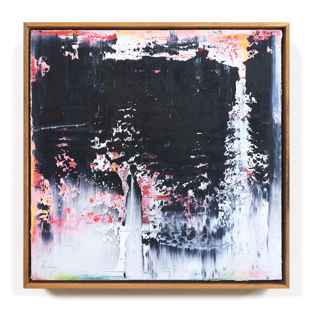 martin lechner carré #00150514 - oil on wood 30 x 30 x 4 cm
