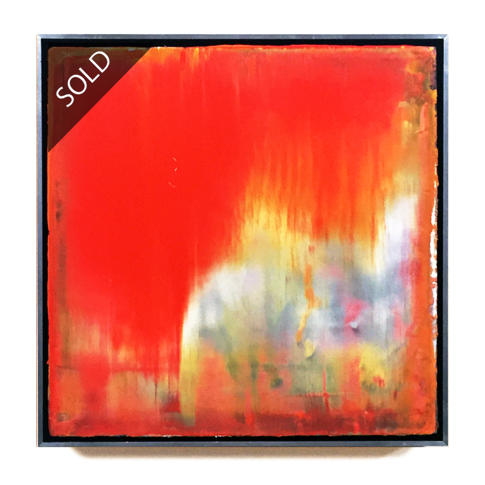 martin lechner carré #00880217 - oil on canvas on wood 30 x 30 x 5 cm