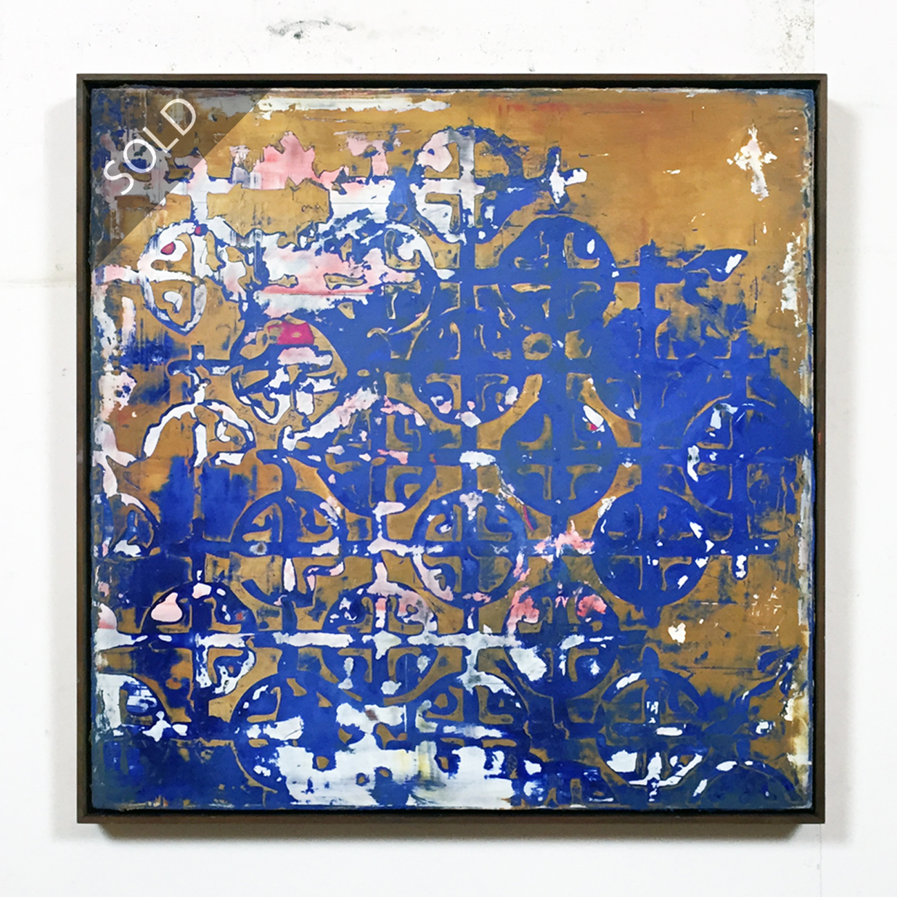 martin lechner carré #00710616 - oil on canvas on panel 60 x 60 x 4 cm (sold)