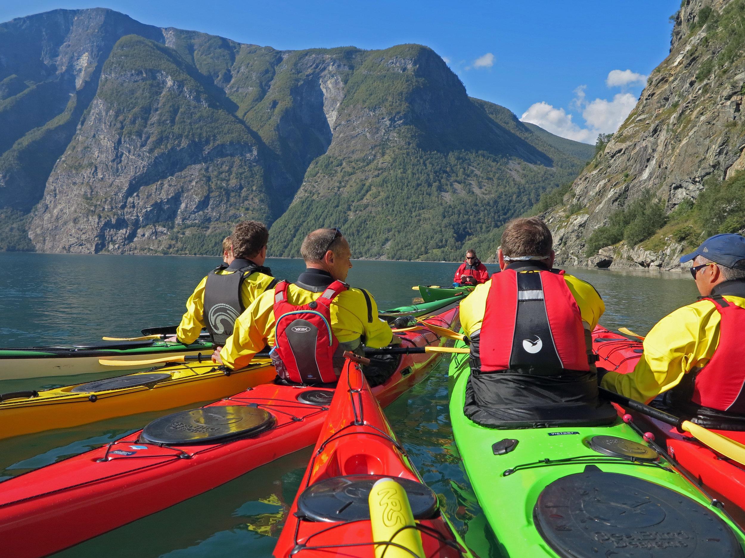 Bulder & Brak Opplevingar take people on guided trips in a kayak. Photo: www.bulderogbrak.no