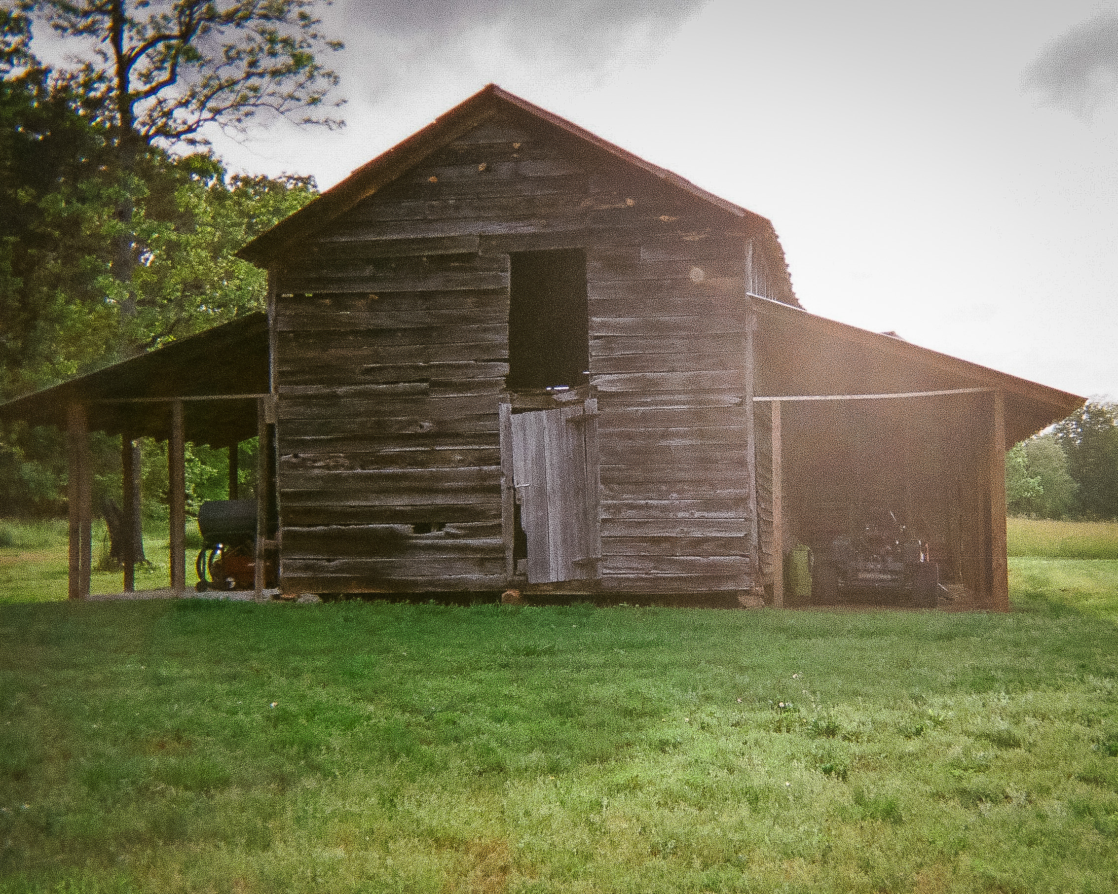"""Outdoor Barn  by Jackson Brown   """"I wanted to take pictures of stuff in my life. Sometimes I go up onto the top level."""""""