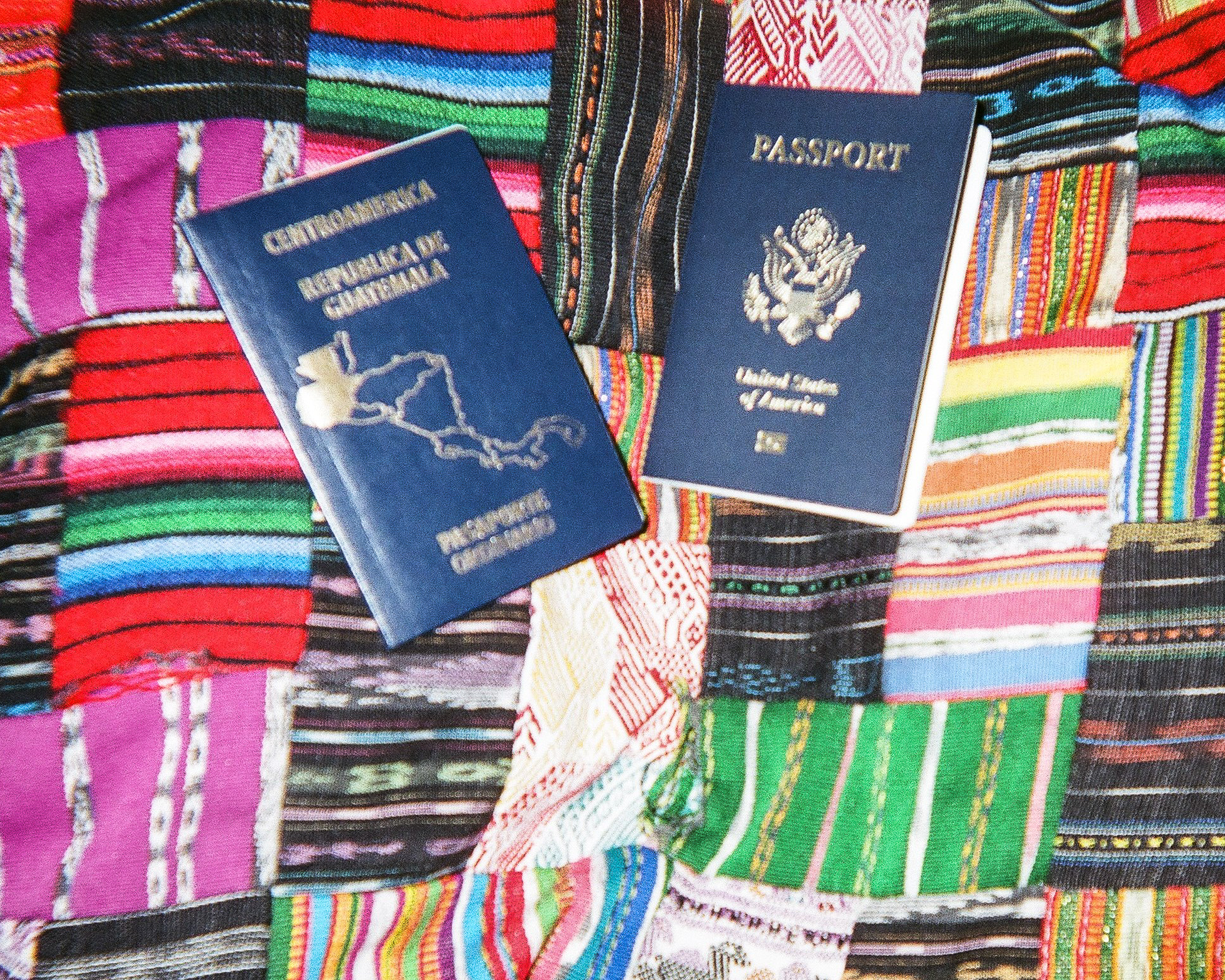 """My Life  by Toli Ewing   """"That's my passport from Guatemala where I was from."""""""
