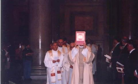 Part of the procession for Mass.