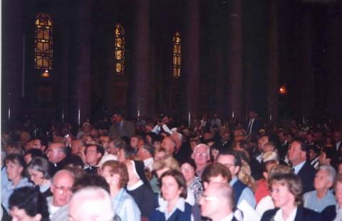 The second largest church in Christendom was filled with pilgrims.