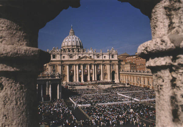 Another view of the crowd participating in the Beatification ceremonies.
