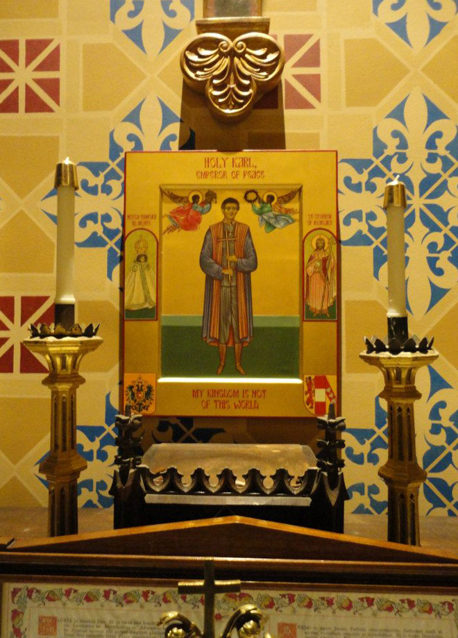Shrine of Blessed Karl, Servant of God Zita, and Servant of God Demetrius Gallitzin, Saint John Cantius Church, Chicago, Illinois