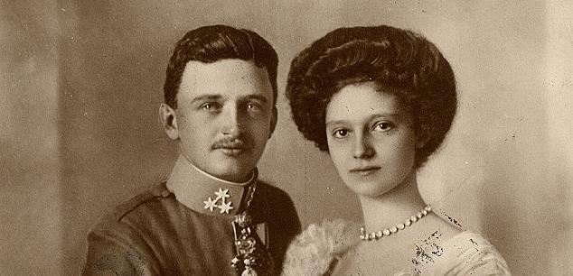 Wedding Portrait of Emperor Karl and Empress Zita, July 12, 1911