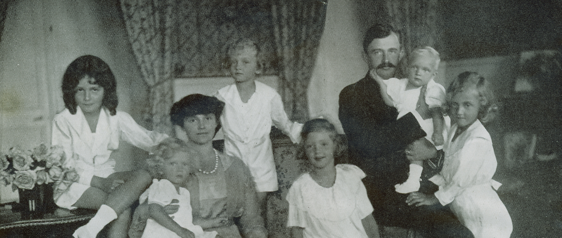 Emperor Karl and Empress Zita with their children while in exile.
