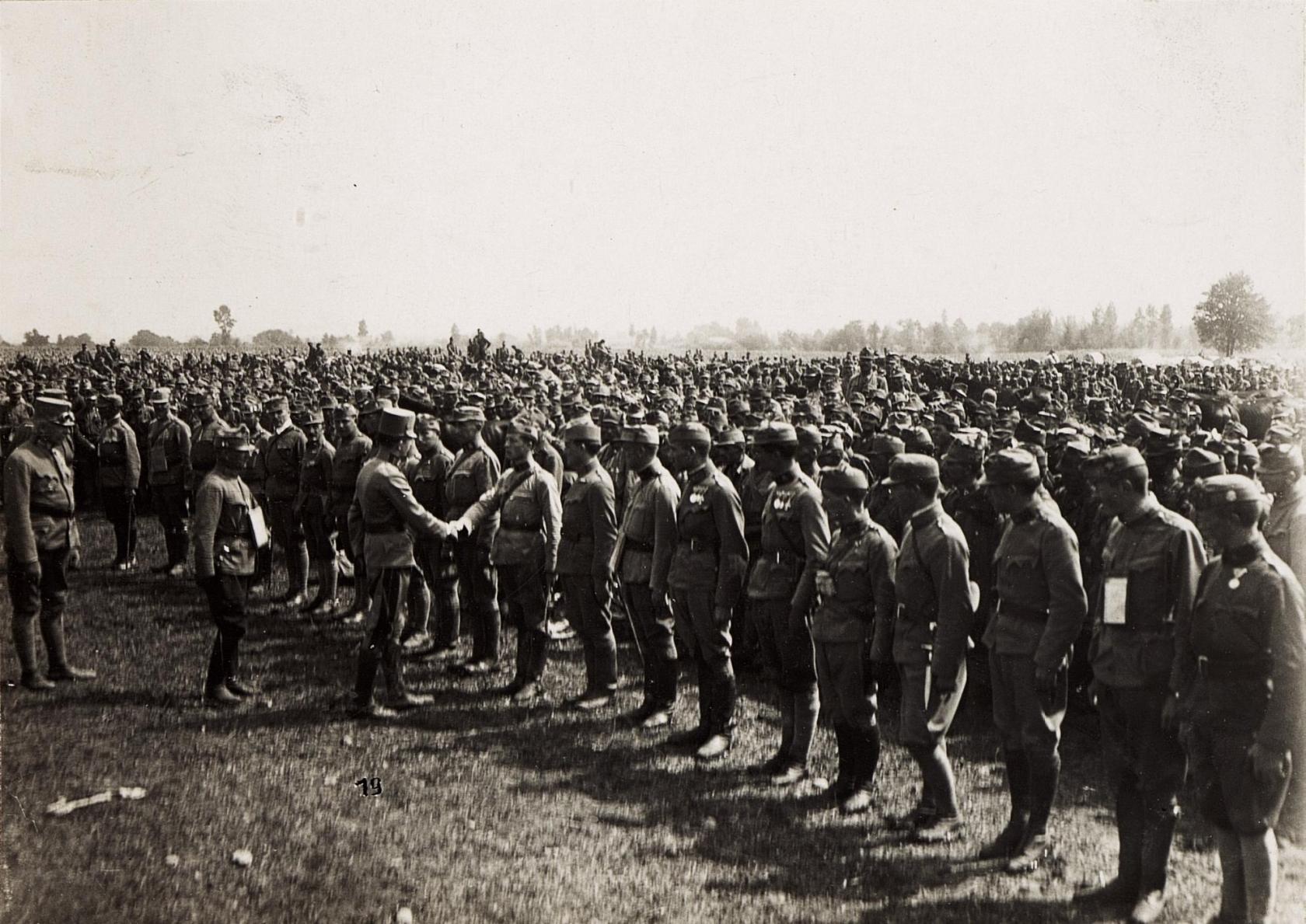 Emperor Karl visits his troops