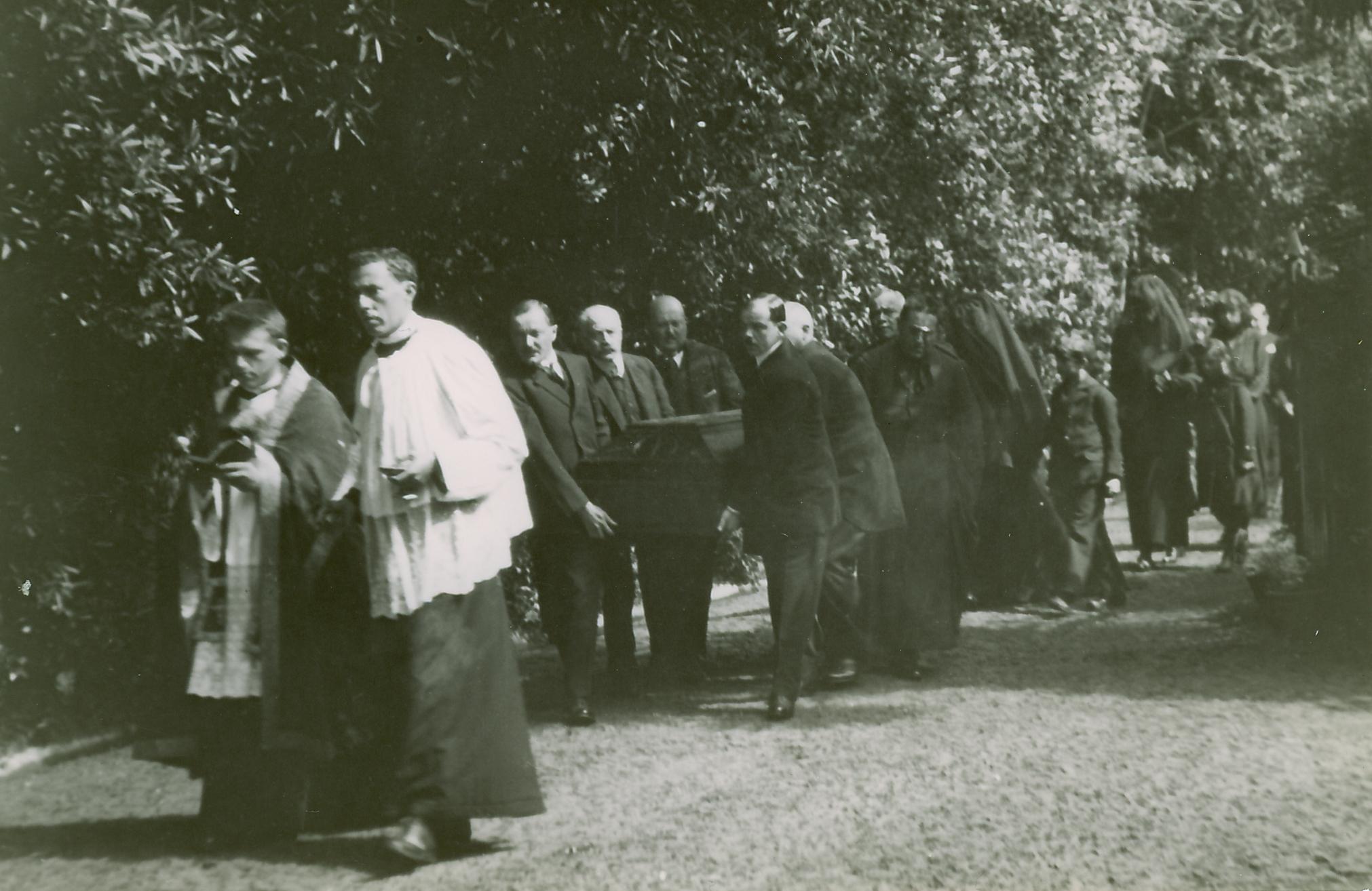 Emperor Karl's Casket is Carried Around the Villa Before the Requiem Mass