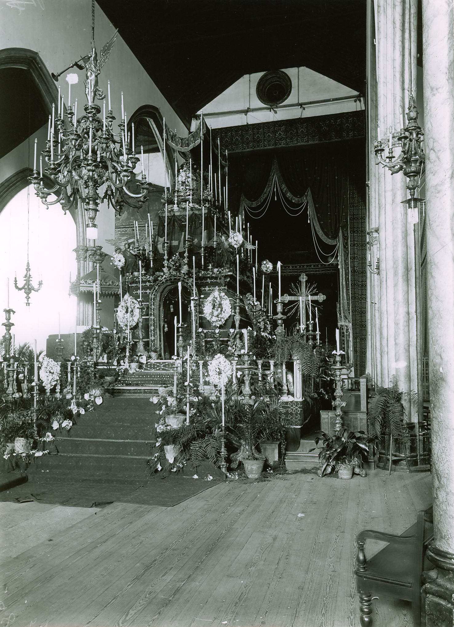 The Requiem Catafalque Erected For Emperor Karl