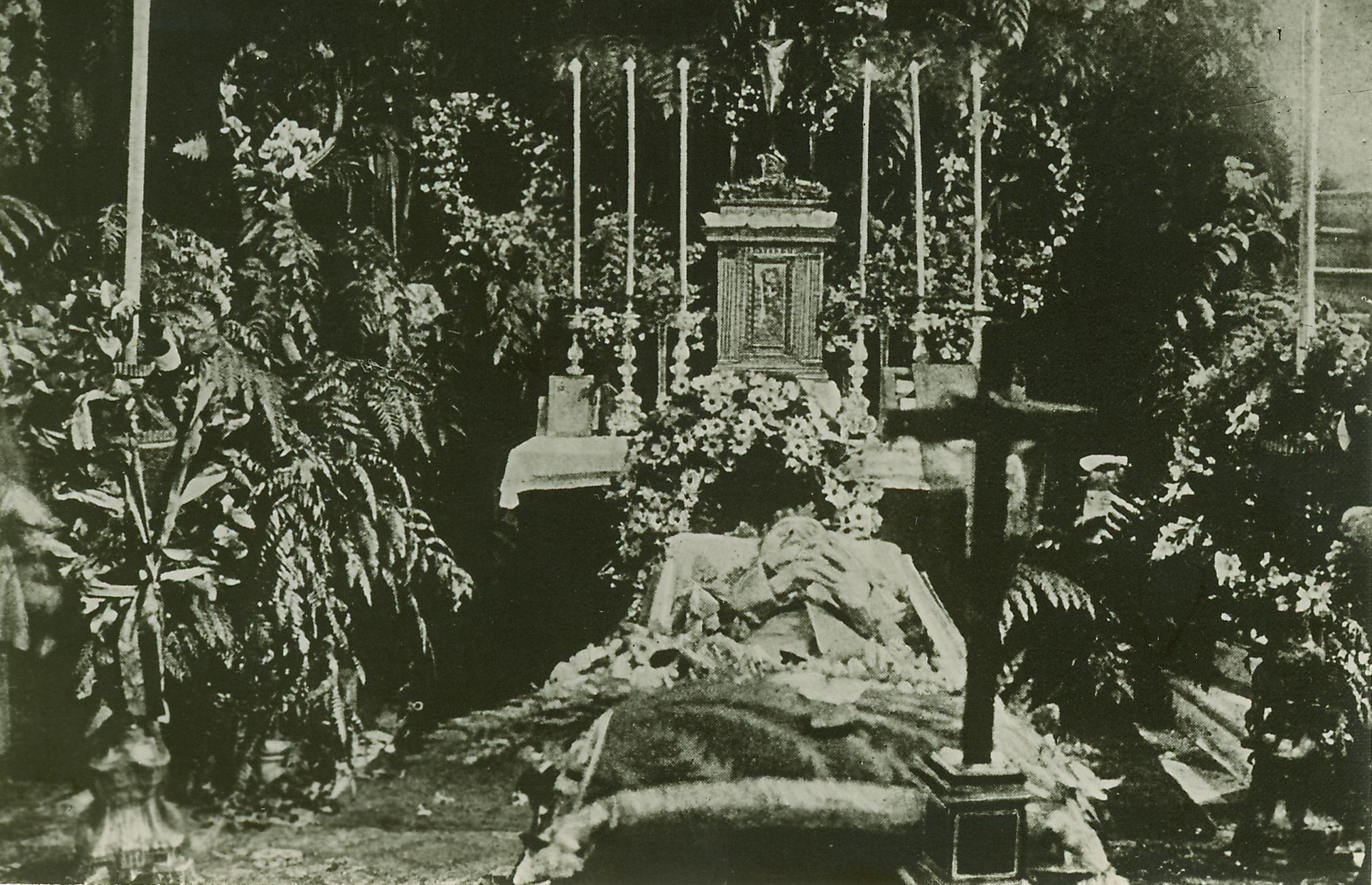Emperor Karl Lies in Repose Before the Requiem Mass