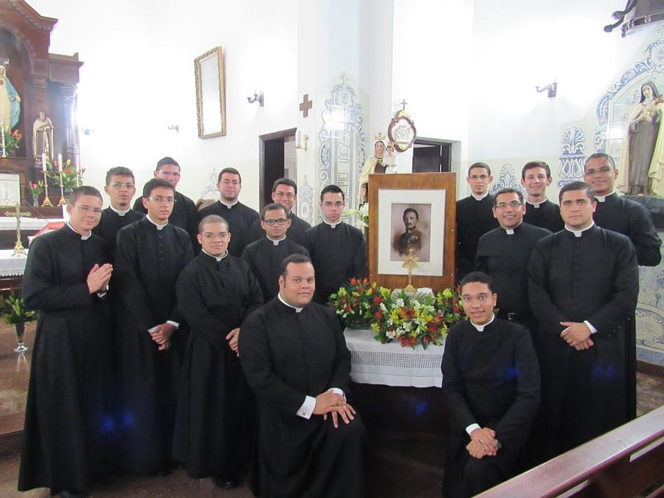 A gathering of priests and seminarians at Carmelo do Imaculado Coração de Maria e Santa Teresinha em Cotia, Brazil, for the Feast of Blessed Karl on October 21, 2016.