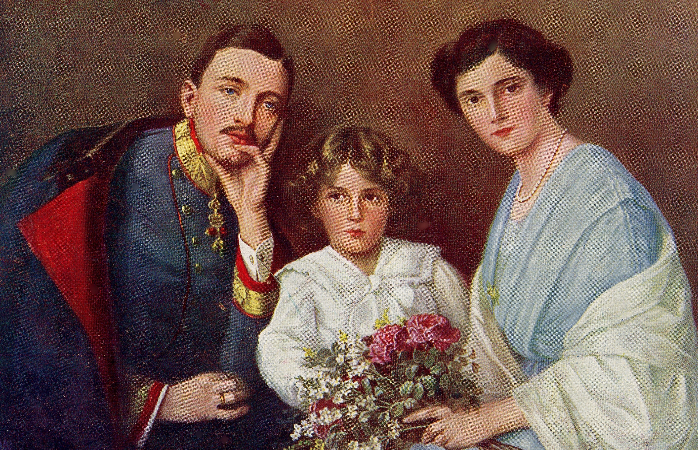 Emperor Karl, Empress Zita, and Crown Prince Otto, ca. 1916