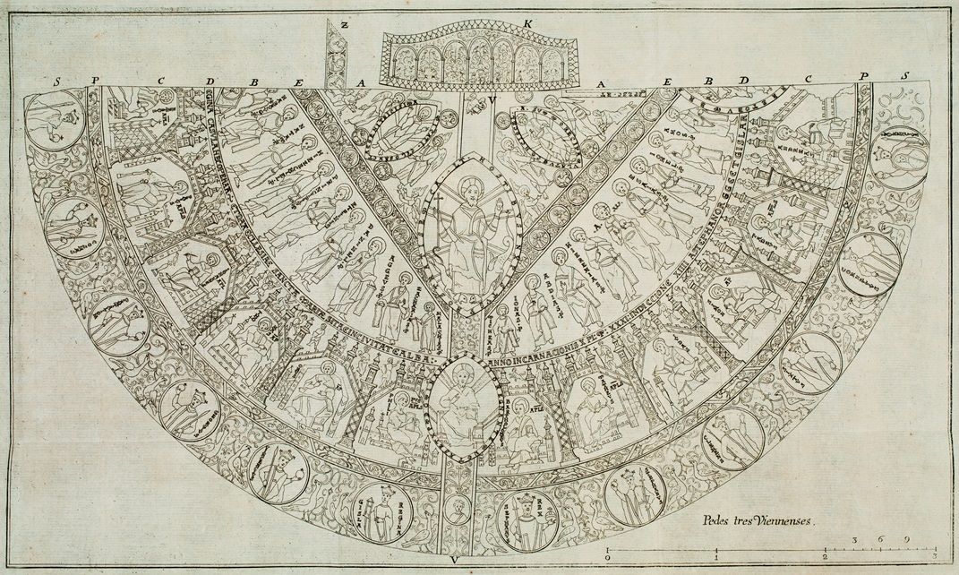 This illustration of the Hungarian Coronation Mantle is taken from Ferenc Balassa's 1754 dissertation.For more information on this illustration and the mantle's research, visit  Princeton University Library.