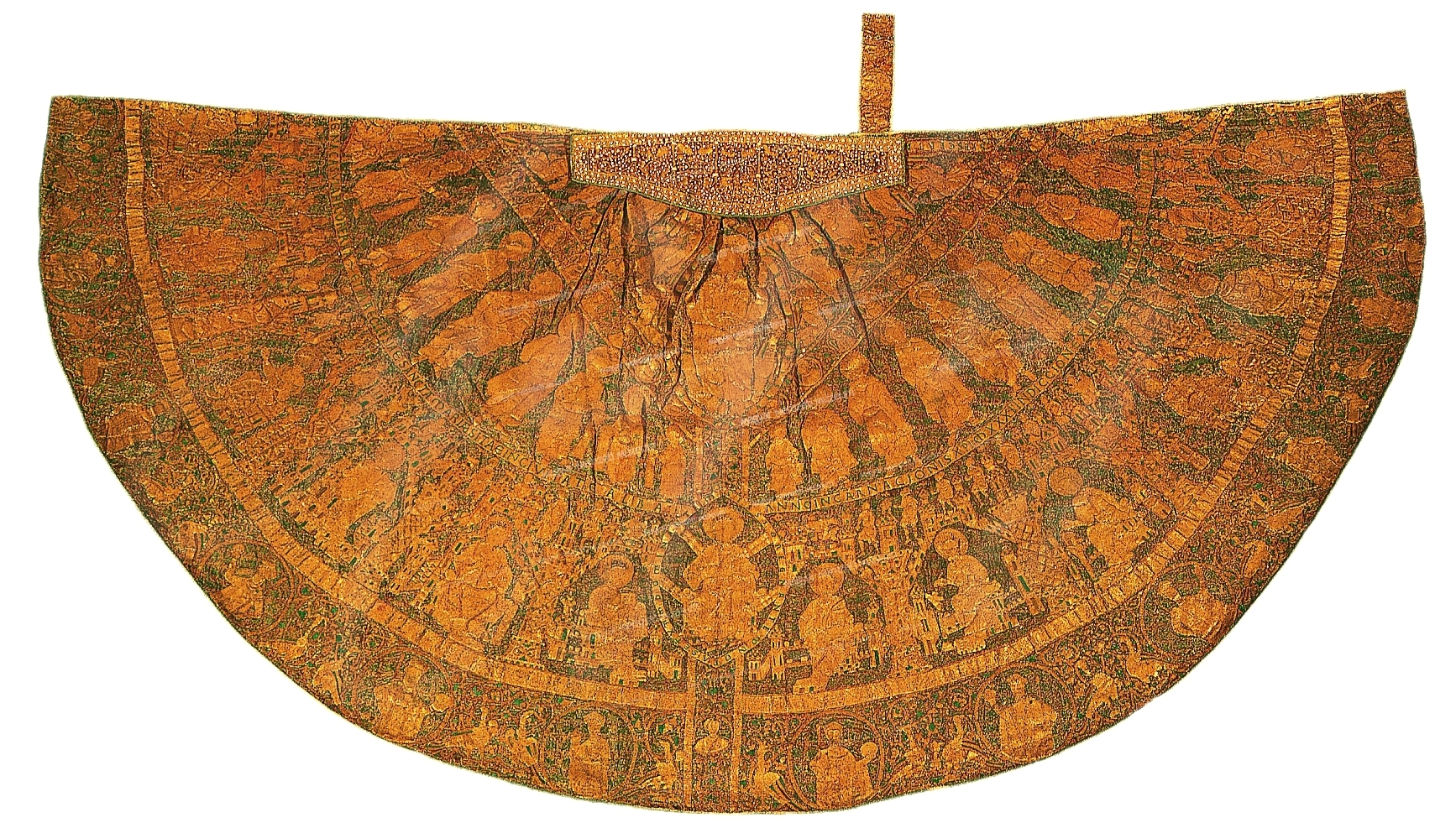 The Hungarian Coronation Mantle was used in the coronation of Kings for 885 years from 1031 to 1916. The mantle is housed in the Hungarian National Museum, Budapest. Photo by the Hungarian National Museum.